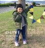 小孩降低大衣媽媽和成套的降低大衣♪童裝兒童服裝小孩外衣降低大衣長袖子食物父母子女rinkukode父母子女成套的◆zootie BAMBINI(zutibambini):Diary羽毛衣[小孩]