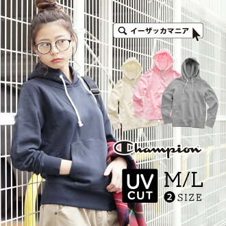 Back raising kangaroo pocket pullover sweat shirt sports CW-G114 15FW ◆ CHAMPION (champion) with the hooded trainer Lady's tops food of the sweat shirt M/L warm back raising: HOODED SWEAT SHIRT CW-G114