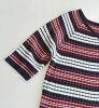 V字領和細邊緣作出感覺清醒和文雅的輪廓的肋條編織物套衫。女子的頂端內部編織物肋條編織物財編織物很薄的邊緣短袖春天夏天◆☆活動中的☆肋條編織物邊緣V字領套衫