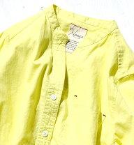 フレンチリネンスタンドカラーロングシャツ