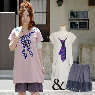 They deceive you, and the casual clothes of this summer are had with a set of a T-shirt dress and the petticoat underwear that a picture is cute! Long tunic Tee and advantageous feeling perfect score ensemble ◆ zootie of the popular petticoat underwear w