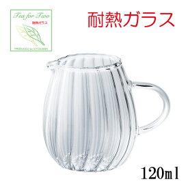 耐熱ガラス ティーフォーツー ウェーブミルクピッチャー YF-1012W