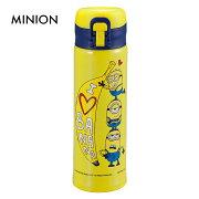 MINION軽量ワンタッチパーソナルボトル500バナナアートステンレスボトル0.5LUY-8044