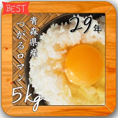 米 5kg 送料無料 人気 お米 精米【29年産 青森県産 つがるロマン 白米5kg】 安い 5キロ オリジナル