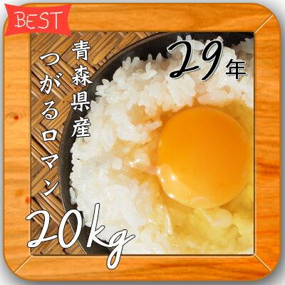 米 20kg 送料無料 人気 お米 精米【29年産 青森県産 つがるロマン 白米20kg(5kg×4)】安い 20キロ 小分け
