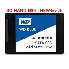 Western Digital ウエスタンデジタルWD Blue 3D SSD 250GB SATA/2.5インチ/64層 3D NAND WDS250G2B0A(2437797)送料無料