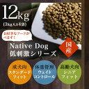 Native Dog 国産・低刺激12kg(3キロ×4袋)【送料無料】