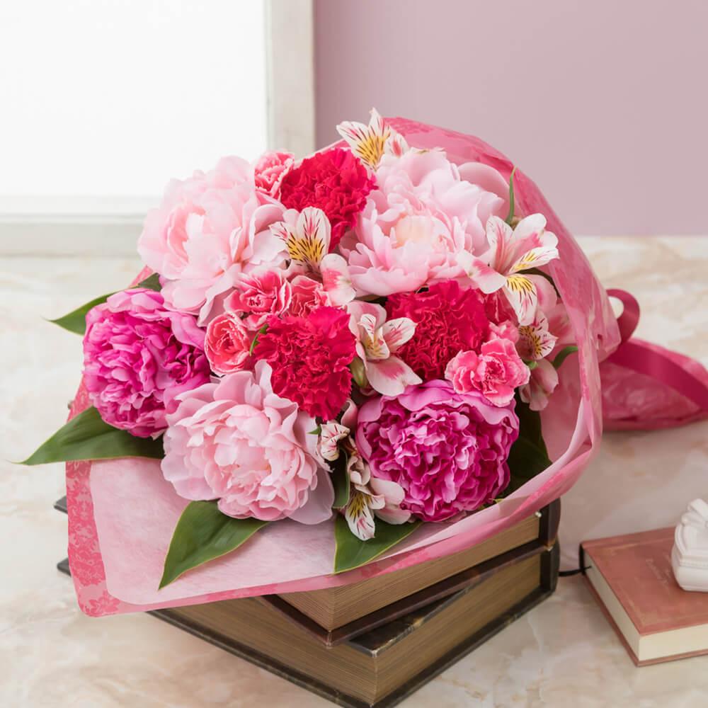 【母の日フラワーギフト】【送料無料】花束「芍薬美人」
