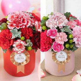 母の日 アレンジメント「ロゼット〜Thanks Mom〜」 ギフト プレゼント 母の日ギフト 母の日プレゼント 花 メッセージカード付き 贈り物 予約 フラワーギフト 2020 誕生日 50代 60代 義母 継母 生花 カーネーション