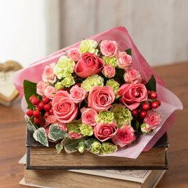 花束「Ma cherie(マ・シェリー)〜 Rose〜」 フラワーギフト 花 プレゼント 春 お祝い 記念 贈り物 合格 進学 退職 入学 卒業 誕生日 結婚記念 開店祝い 送別会 歓送迎会
