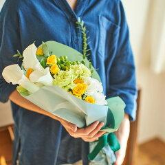 【花束ブーケ】「Mybouquet(カラー)」花束セット「北欧風フラワーベース2種セット(イエローローズとユーカリ)」、「フラワーベース2種セット(ユーカリ)」生花花瓶付きプレゼント誕生日記念日お祝い記念インテリアおしゃれ花ギフト贈り物ギフトセット