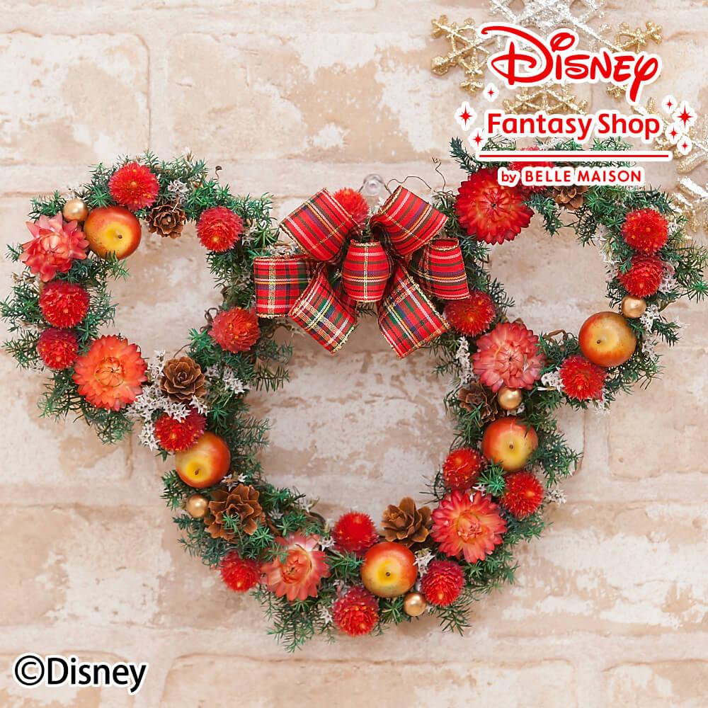 ディズニー/ドライフラワーリース「クリスマスミニーマウス」