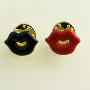 唇 くちびる リップ ピンブローチ ブローチ ラベルピン ks28003【ラペルピン】