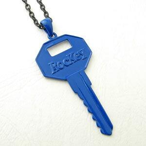 ネックレス 原色 ビビットカラー 鍵 キーデザイン『RocKey』トップマットBKチェーン カジュアルネックレス5色から選んでね KN19000-19004【ペンダント】【ペアネックレス】