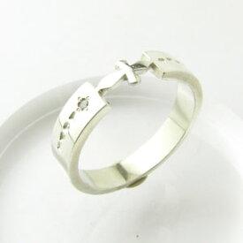 【訳あり品】カットクロス ダイヤモンドリング Silver925 SAR007【指輪】【ペアリング】