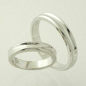 ペアリング close to me シンプルデザイン ブルーダイヤ付き ペアシルバーリングSR14-004p【指輪】