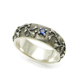 リング メンズ シルバー 誕生石 バースデイストーン 指輪 一輪の花 シルバーリング DAgDART ダグダート P-033【プレゼント】【ペアリング】