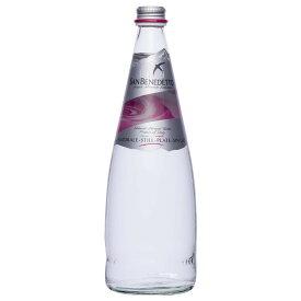 Sanbenedetto サンベネデット ナチュラルミネラルウォーター(炭酸なし) グラスボトル 750ml×12本 【軽食品 レビュー投稿で次回使える2000円クーポン全員にプレゼント飲料】
