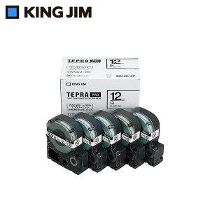 キングジム 「テプラ」PROテープカートリッジ エコパック(5個入り) 白/黒文字 12mm SS12K-5P 【文具・玩具 レビュー投稿で次回使える2000円クーポン全員にプレゼント文具】