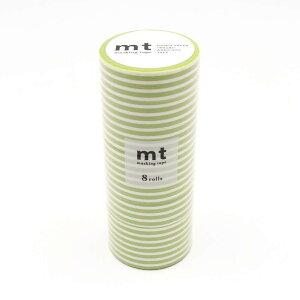 10000円以上送料無料 mt マスキングテープ 8P ボーダー・キウイ MT08D388 【文具・玩具 レビュー投稿で次回使える2000円クーポン全員にプレゼント文具】