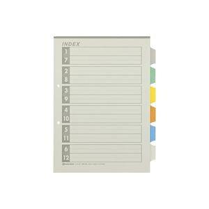 【送料無料】(まとめ)ジョインテックス 再生インデックスA4S 6色6山10組 D137J-6Y【×10セット】 生活用品・インテリア・雑貨 文具・オフィス用品 ファイル・バインダー クリアケース・クリ