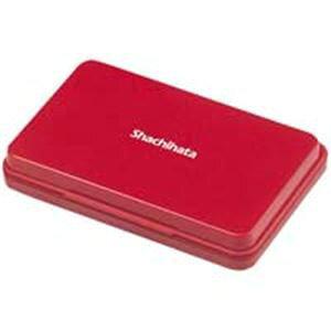 【送料無料】シヤチハタ スタンプ台 HGN-2-R 中形 赤 10個 生活用品・インテリア・雑貨 文具・オフィス用品 印鑑・スタンプ・朱肉 レビュー投稿で次回使える2000円クーポン全員にプレゼント