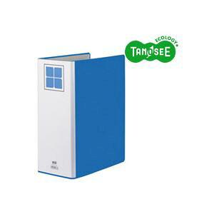 【送料無料】(まとめ)TANOSEE 両開きパイプ式ファイルE A4タテ 100mmとじ 青 30冊 生活用品・インテリア・雑貨 文具・オフィス用品 ファイル・バインダー クリアケース・クリアファイル レビ