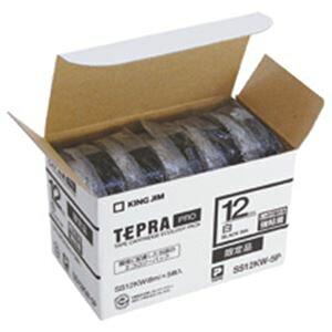 【送料無料】キングジム テプラ PRO テープカートリッジ 強粘着 12mm 白/黒文字 SS12KW-5P 1パック(5個) 生活用品・インテリア・雑貨 文具・オフィス用品 ラベルシール・プリンタ レビュー投稿で