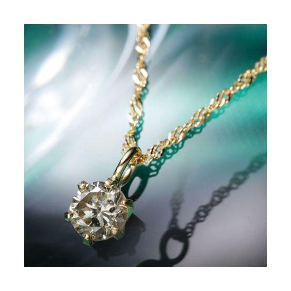 10000円以上送料無料 K18YGブラウンダイヤモンドペンダント/ネックレス ファッション ネックレス・ペンダント 天然石 ダイヤモンド レビュー投稿で次回使える2000円クーポン全員にプレゼント