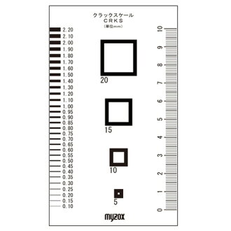 It is present direct shipment (ten sets for duties) マイゾックスクラックスケール / measurement tool 70*120mm CRKS 082801 [/DIY/ Sunday carpentry for / pros for duties] sports recreation DIY, a tool measurement tool for all the 2,000 yen coupons which are usable by a r