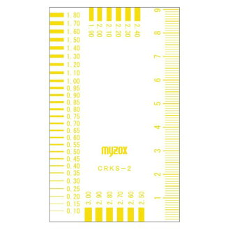It is present direct shipment (30 sets for duties) マイゾックスクラックスケール / measurement tool 55*91mm CRKS-2Y 219271 yellow (yellow) [/DIY/ Sunday carpentry for / pros for duties] sports recreation DIY, a tool measurement tool for all the 2,000 yen coupons which