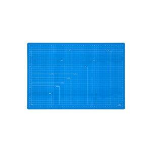 【送料無料】(業務用セット) 折りたたみカッティングマット A3サイズ CTMO-A3-SB スカイブルー【×3セット】 生活用品・インテリア・雑貨 文具・オフィス用品 カッターマット・カッティングマ