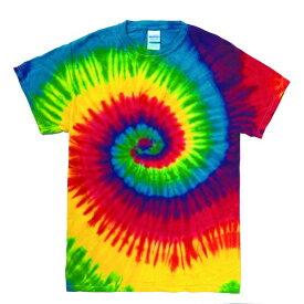 10000円以上送料無料 レインボーマルチカラー タイダイTシャツ M リアクティブレインボー ファッション トップス Tシャツ 半袖Tシャツ レビュー投稿で次回使える2000円クーポン全員にプレゼント