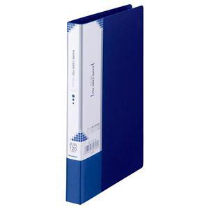 (まとめ) ビュートン 名刺ホルダー H192×W115×D17mm 120名用 ヨコ入れ ダークブルー INC-120-DB 1冊 【×20セット】 生活用品・インテリア・雑貨 文具・オフィス用品 名刺収納・カードファイル レビ