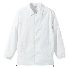 撥水防風加工裏地起毛付コーチジャケット ホワイト M ファッション トップス ジャケット メンズジャケット レビュー投稿で次回使える2000円クーポン全員にプレゼント