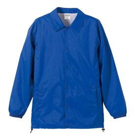 撥水防風加工裏地起毛付コーチジャケット ブルー M ファッション トップス ジャケット メンズジャケット レビュー投稿で次回使える2000円クーポン全員にプレゼント