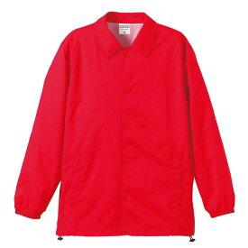 撥水防風加工裏地起毛付コーチジャケット レッド M ファッション トップス ジャケット メンズジャケット レビュー投稿で次回使える2000円クーポン全員にプレゼント