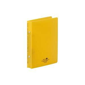 【送料無料】(業務用100セット) LIHITLAB ツイストリング式ファイル 【A5/2穴】 タテ型 F5006-5 黄 生活用品・インテリア・雑貨 文具・オフィス用品 ファイル・バインダー クリアケース・クリアフ