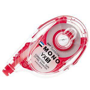 【送料無料】(まとめ) トンボ鉛筆 修正テープ モノYX5 本体 5mm幅×12m 赤 CT-YX5 1個 【×15セット】 生活用品・インテリア・雑貨 文具・オフィス用品 修正液・修正ペン・修正テープ レビュー