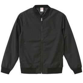 テカリを抑えた綿混・撥水加工、防風加工、裏地付スタジアムジャケット ブラック M ファッション トップス ジャケット メンズジャケット レビュー投稿で次回使える2000円クーポン全員にプレゼント
