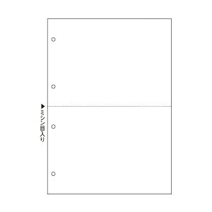 【送料無料】(まとめ)TANOSEE マルチプリンタ帳票 複写タイプ A4 ノーカーボン 白紙2面4穴 1箱(500枚:100枚×5冊) 【×3セット】 生活用品・インテリア・雑貨 文具・オフィス用品 ノート・紙