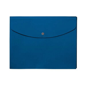 【送料無料】(まとめ)プラス シンプルワークポケット付エンベロープ マチ付 A4ヨコ ブルー FL-121CH 1枚 【×50セット】 生活用品・インテリア・雑貨 文具・オフィス用品 ファイル・バインダ
