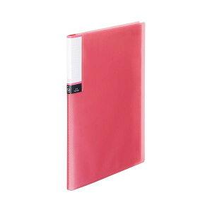(まとめ) TANOSEE クリアブック(透明表紙) A4タテ 12ポケット 背幅8mm ピンク 1セット(10冊) 【×10セット】 生活用品・インテリア・雑貨 文具・オフィス用品 ファイル・バインダー その他の