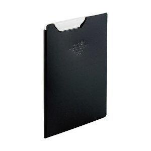 【送料無料】(まとめ)リヒトラブ AQUA DROPsクリップファイル A5 黒(不透明)F-5065-24 1枚【×10セット】 生活用品・インテリア・雑貨 文具・オフィス用品 ファイル・バインダー クリップボー