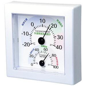 【送料無料】クレセル 快適環境温湿度計 壁掛け・卓上用スタンド付き ホワイト TR-100W ダイエット・健康 健康器具 温度計・湿度計 レビュー投稿で次回使える2000円クーポン全員にプレゼント