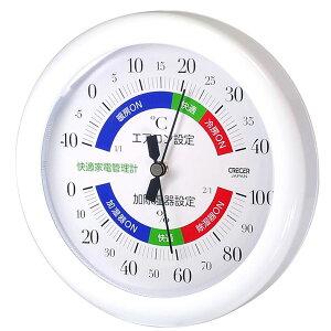 【送料無料】クレセル 温湿度計(快適家電管理表示) 壁掛け・卓上用スタンド付き ホワイト TR-130W ダイエット・健康 健康器具 温度計・湿度計 レビュー投稿で次回使える2000円クーポン全員に