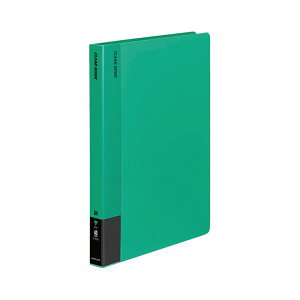 【送料無料】コクヨ クリヤーブック(固定式)A4タテ 40ポケット 背幅28mm 緑 ラ-570G 1セット(20冊) 生活用品・インテリア・雑貨 文具・オフィス用品 ファイル・バインダー クリアケース・