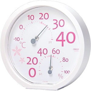 【送料無料】クレセル 温湿度計 壁掛け・卓上用 ピンク CR-170P ダイエット・健康 健康器具 温度計・湿度計 レビュー投稿で次回使える2000円クーポン全員にプレゼント