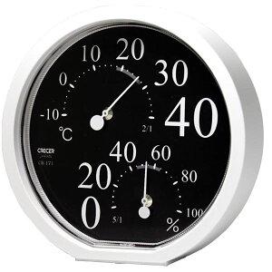 【送料無料】クレセル 温湿度計 壁掛け・卓上用 ブラック CR-171K ダイエット・健康 健康器具 温度計・湿度計 レビュー投稿で次回使える2000円クーポン全員にプレゼント