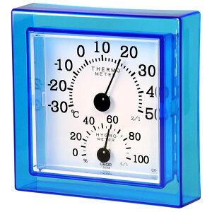 【送料無料】クレセル 温湿度計 壁掛け・卓上用 ブルー CR-12B ダイエット・健康 健康器具 温度計・湿度計 レビュー投稿で次回使える2000円クーポン全員にプレゼント